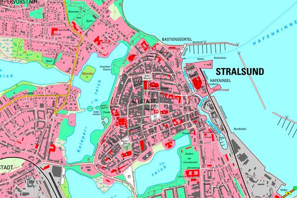 Stralsund Karte.Topographische Karten